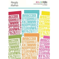 Εικόνα του Simple Stories Color Vibe Alpha Sticker Book - Brights