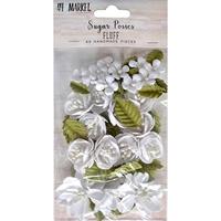 Εικόνα του 49 And Market Χάρτινα Λουλούδια Sugar Posies - Fluff