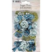 Εικόνα του 49 And Market Χάρτινα Λουλούδια Sugar Posies - Blue Raspberry
