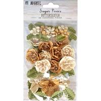 Εικόνα του 49 And Market Χάρτινα Λουλούδια Sugar Posies - Butterscotch