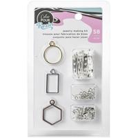 Εικόνα του American Crafts Color Pour Resin Jewelry Kit - Σετ Κατασκευής Κοσμημάτων