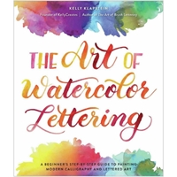 Εικόνα του Kelly Creates The Art Of Watercolor Lettering Book - A Beginner's Step-By-Step