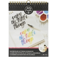 "Εικόνα του Kelly Creates Watercolor Brush Lettering Workbook 8.5""X11"" - Words"