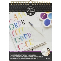 "Εικόνα του Kelly Creates Watercolor Brush Lettering Workbook 8.5""X11"" - Block Letters"