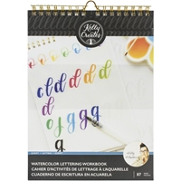 "Εικόνα του Kelly Creates Watercolor Brush Lettering Workbook 8.5""X11"" - Script Lettering"