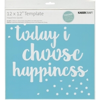 "Εικόνα του Kaisercraft Kaisercraft Designer Template 12""X12"" - Happiness Quote"