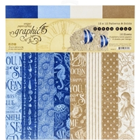 "Εικόνα του Graphic 45 Double-Sided Paper Pad 12""X12""  - Ocean Blue"