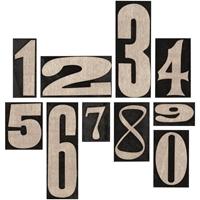 Εικόνα του Tim Holtz Idea-Ology - Ξύλινα Νούμερα