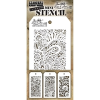 Εικόνα του Tim Holtz Mini Layered Stencil - Set 47