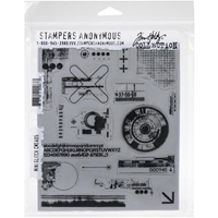 "Εικόνα του Tim Holtz Cling Stamps 7""X8.5"" - Mini Glitch"