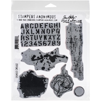 "Εικόνα του Tim Holtz Cling Stamps 7""X8.5"" - Grunged"