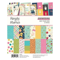 "Εικόνα του Simple Stories Double-Sided Paper Pad 6""X8""  - Best Year Ever"