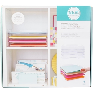 Picture of We R Memory Keepers We R Stackable Acrylic Paper Trays - Ακρυλικά Ράφια Αποθήκευσης Χαρτιών