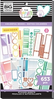 Εικόνα του Create 365 Happy Planner Sticker Value Pack - Colorful Boxes Copper Foil