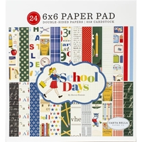"Εικόνα του Carta Bella Double-Sided Paper Pad 6""X6"" - School Days"