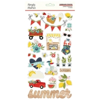 "Εικόνα του Simple Stories Chipboard Stickers 6""X12"" - Summer Farmhouse"