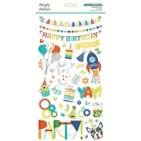 "Εικόνα του Simple Stories Chipboard Stickers 6""X12"" - Birthday Blast"