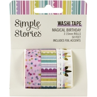 Εικόνα του Simple Stories Washi Tape - Magical Birthday