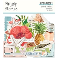 Εικόνα του Simple Stories Bits & Pieces Die-Cuts - Simple Vintage Coastal