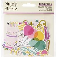 Εικόνα του Simple Stories Bits & Pieces Die-Cuts - Magical Birthday