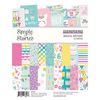"Εικόνα του Simple Stories Double-Sided Paper Pad 6""X8""  - Magical Birthday"