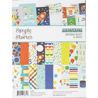 "Εικόνα του Simple Stories Double-Sided Paper Pad 6""X8""  - Birthday Blast"
