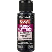 Εικόνα του SoSoft Glitters Ακρυλικό Χρώμα για Ύφασμα 59ml - Black Sequins