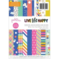 "Εικόνα του Pebbles Single-Sided Paper Pad 6""X8"" - Live Life Happy"