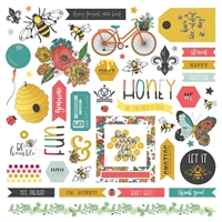 "Εικόνα του Wild Honey Stickers 12""X12"" - Elements"