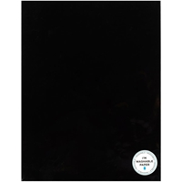 "Εικόνα του American Crafts Washable Faux Leather Paper 8.5""X11"" - Black"