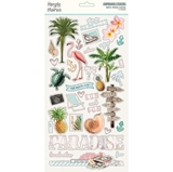 "Εικόνα του Simple Stories Simple Vintage Coastal Chipboard Stickers 6""X12"""