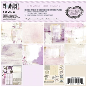 "Picture of 49 And Market Collection Pack 6""X6"" - Vintage Artistry Lilac"