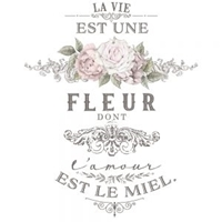"""Εικόνα του Μεταφορά Εικόνας Prima Re-Design Decor Colored Transfer - La Vie Est Une Fleur 17""""X27"""""""