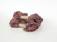 Εικόνα του Shabby Crinkled Seam Binding Ribbon - Mahogany