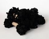 Εικόνα του Shabby Crinkled Seam Binding Ribbon - Black