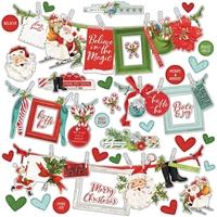 """Εικόνα του Simple Vintage North Pole Cardstock Stickers 12""""X12"""" - Banners"""