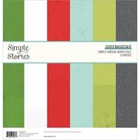 """Εικόνα του Simple Stories Basics Double-Sided Paper Pack 12""""X12"""" - Simple Vintage North Pole"""