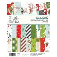 """Εικόνα του Simple Stories Double-Sided Paper Pad 6""""X8""""  - Simple Vintage North Pole"""