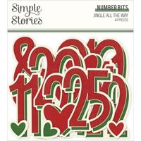 Εικόνα του Jingle All The Way Cardstock Die-Cuts - Number Bits