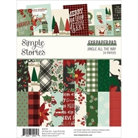 "Εικόνα του Simple Stories Double-Sided Paper Pad 6""X8""  - Jingle All the Way"