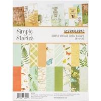 """Εικόνα του Simple Stories Double-Sided Paper Pad 6""""X8""""  - Simple Vintage Great Escape"""