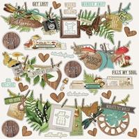 """Εικόνα του Simple Vintage Great Escape Cardstock Stickers 12""""X12"""" - Banners"""