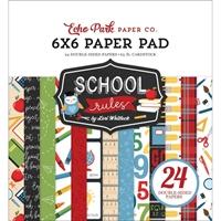"""Εικόνα του Echo Park Double-Sided Paper Pad 6""""X6"""" - School Rules"""