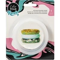 Εικόνα του American Crafts Color Pour Resin Mold - Καλούπι για Βραχιόλι Facet Bangle