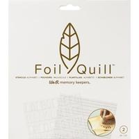 """Εικόνα του We R Memory Keepers Foil Quill Freestyle Stencils 7""""X7"""" - Alphabet"""