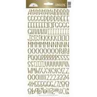 """Εικόνα του Doodlebug Sunshine Cardstock Alpha Stickers 6""""X13"""" - Gold Foil"""