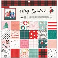 """Εικόνα του Crate Paper Single-Sided Paper Pad 12""""X12"""" - Hey Santa"""