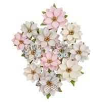Εικόνα του Sugar Cookie Mulberry Paper Flowers - Glittery Snow