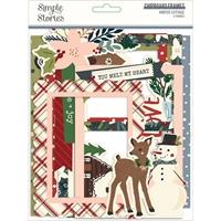 Εικόνα του Winter Cottage Layered Frames Die-Cuts