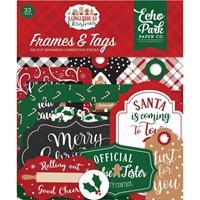 Εικόνα του Echo Park A Gingerbread Christmas Cardstock Ephemera - Frames & Tags